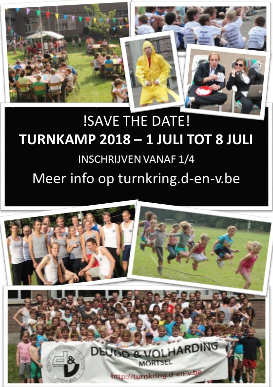 Save the date Turnkamp sjabloon